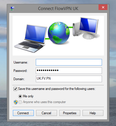 How to configure Flow VPN for Windows | Flow VPN - Unmetered
