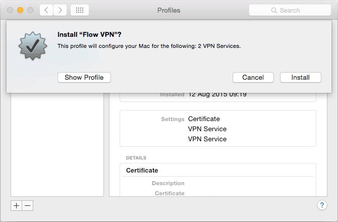 How to configure Flow VPN on Mac | Flow VPN - Unmetered VPN