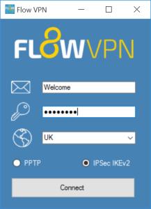 Download Flow VPN for Windows – PPTP and IPSec IKEv2 Client